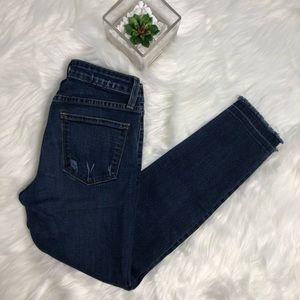 Just Black Raw Hem Ankle Jeans Sz 25p Stitch Fix